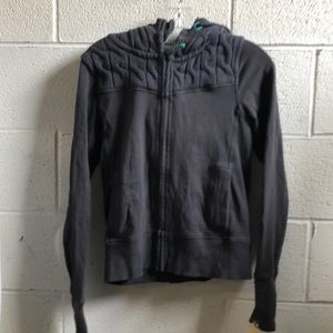 Lululemon gray sweat jacket w/ hood sz 6 59682